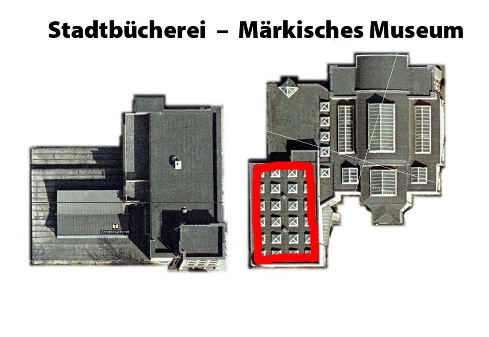 Vergleich Stadtbibliothek - Märkisches Museum